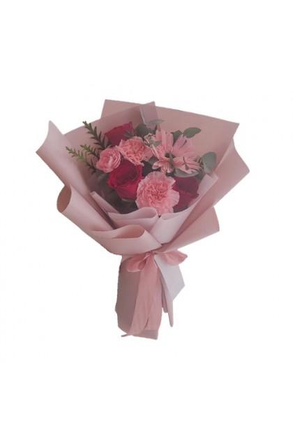 HB08900 Rose Gerbera Carnation Bouquet