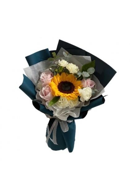 HB291 Sunflower Rose Carnation