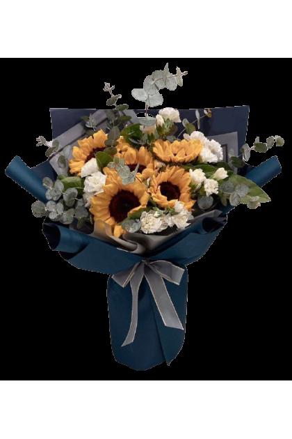 HB293 Sunflower Eustoma Bouquet
