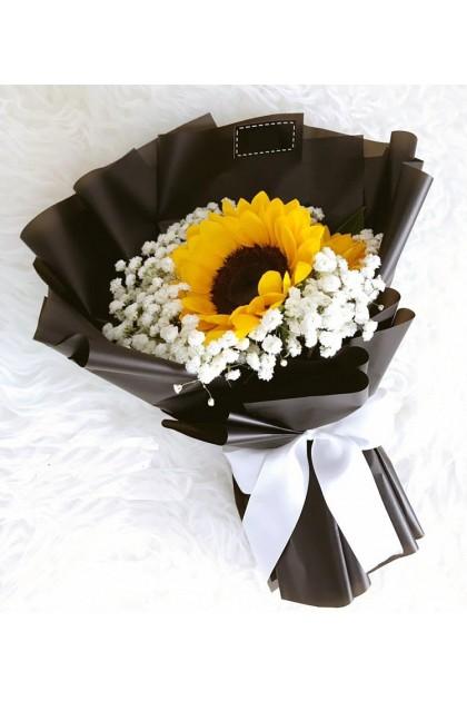 HB299 Sunflower Baby Breath