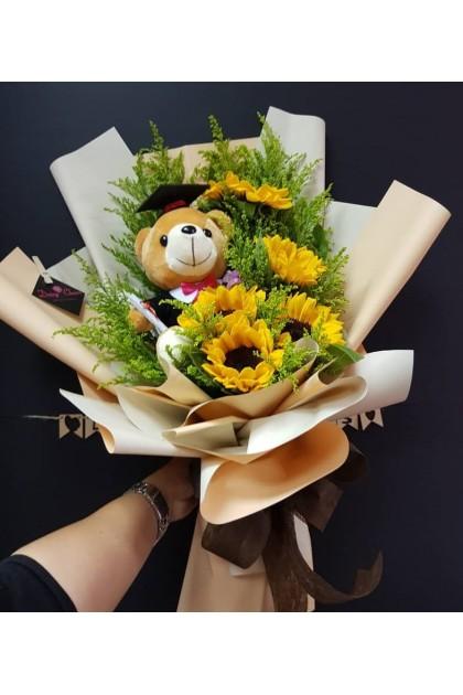 CON112 Sunflower Graduation Bouquet