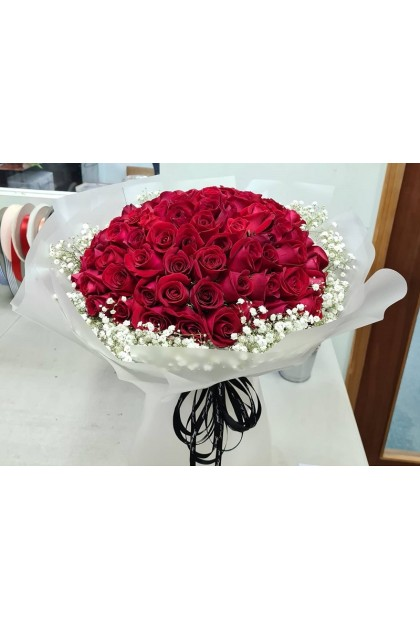 HB171 Baby Breath with 99 Rose