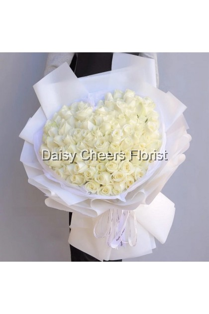 HB3 White Rose Bouquet