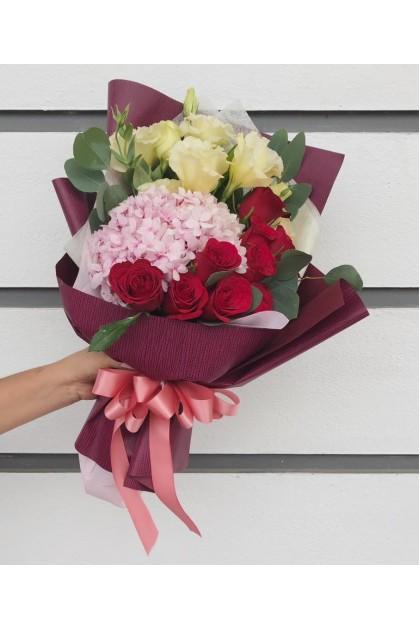 HB324 Hydrangea Rose Bouquet
