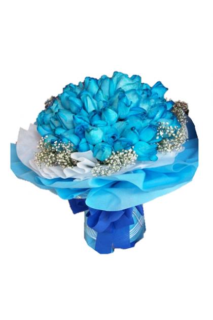 HB168 Blue Roses