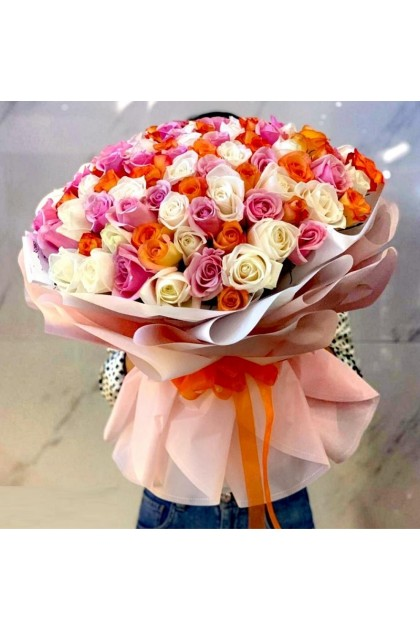HB201 Mixed Colour Rose