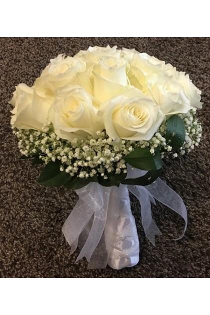 BB008 Rose Baby's-breath Bridal Bouquet