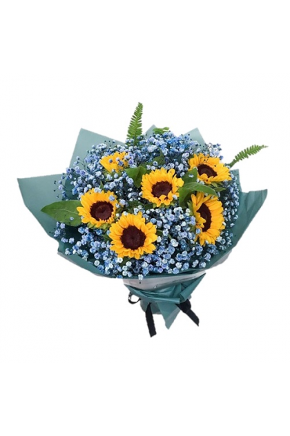 HB281 Sunflower Color Baby Breath
