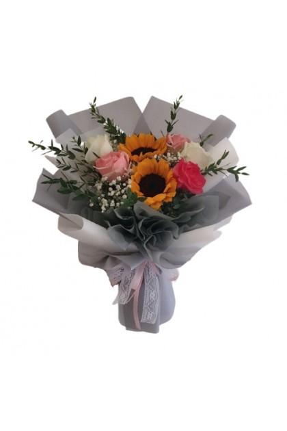 HB327 Rose Sunflower