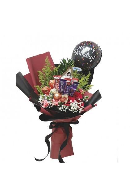 HB08804 Rose Balloon Chocolate