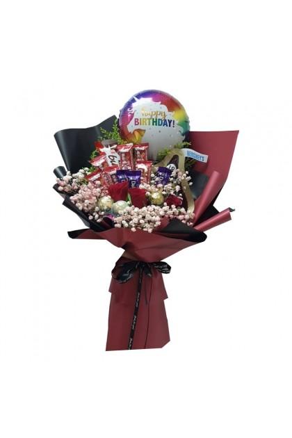 HB08835 Rose Balloon Chocolate