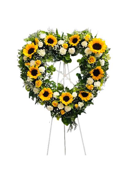 SF022 Sympathy Heart Flower