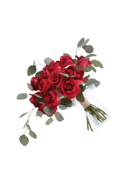BB020 Simple Rose Bridal Bouquet