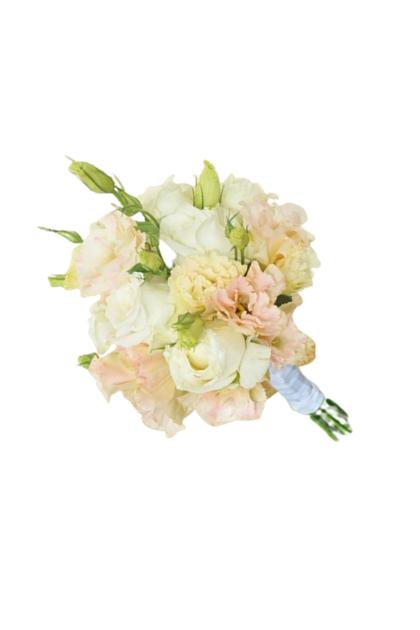 BB021 White Rose Carnation Bridal Bouquet