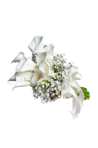 BB022 Calla Lily BabyBreath Wedding Flower
