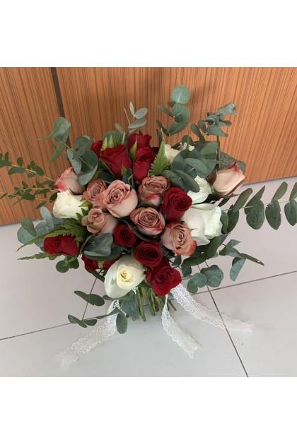 BB025 Rustic Bridal Bouquet