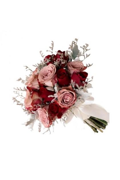 BB026 Cappuccino Rose Bridal Bouquet