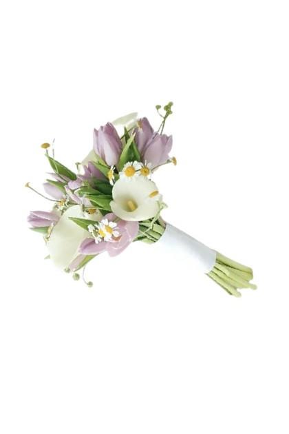 BB028 Tulip Calla Lily Wedding Bouquet