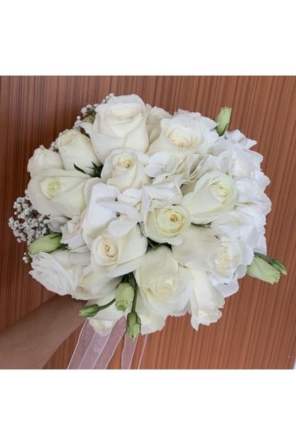 BB030 White Bridal Bouquet