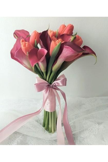 BB056 Calla Lily Tulip Bridal Bouquet