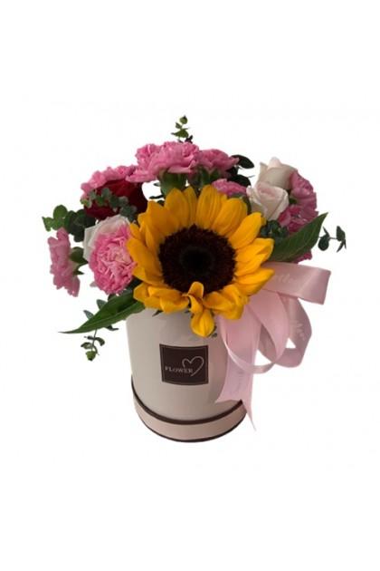 BXF009 Carnation Sunflower Box