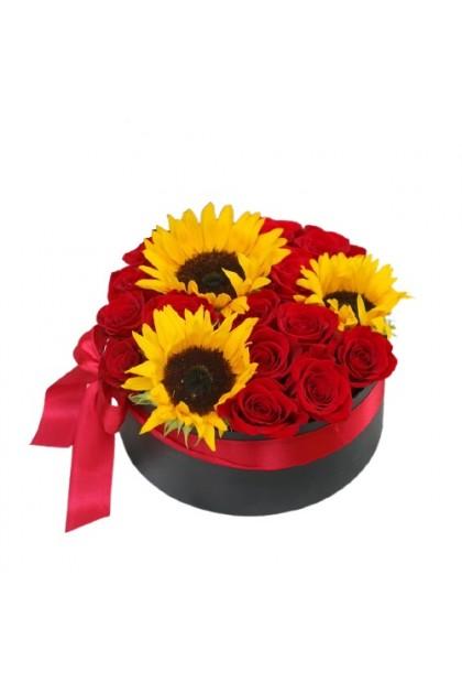 BXF012 Rose Sunflower  Box