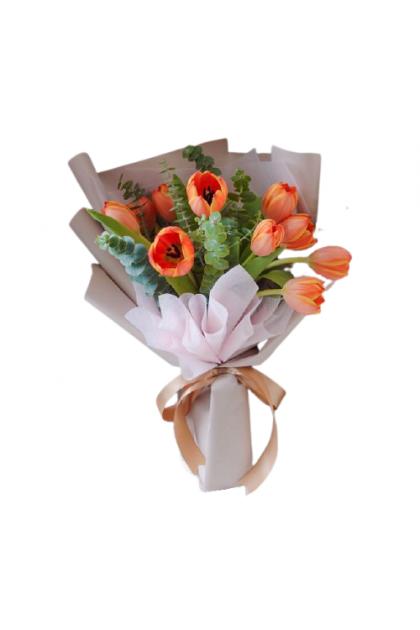 HB243 Orange Tulip Bouquet